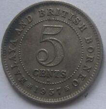 Malaya & British Borneo 5 cents 1957 H coin