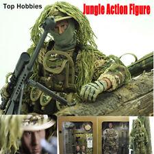 30cm 1/6 Military Jungle Sniper Soldier Sets Combat Super Flexible 12Inch Figure
