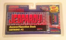 New/Sealed 1995 Tiger Electronic Lcd Game Jeopardy Answer Book/Cartridge Game #2