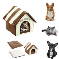 Dog Cat Cave Pet Bed Kennel Puppy Sleeping Bed Cushion Basket Warm Nest Pad BR