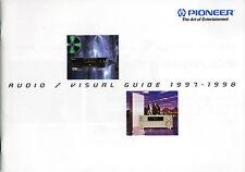 Pioneer Katalog Prospekt Audio/Visual 1997/98 VSX-806 PDs06 PD-F906 A705R CTW806