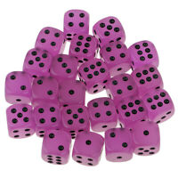 Purple Glow In The Dark D6 Dices for D&D TRPG Table Game Point Dice 0.62inch