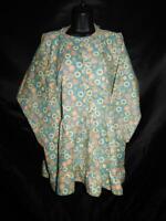 Alaska Native Eskimo Kuspuk 2X Blue Pink Yellow Floral Tunic Shirt Cotton Hood