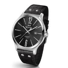Tw steel Oversize Men's Watch TW-1300 TW1300 Analog Leather Black
