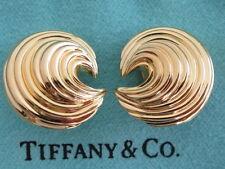 TIFFANY & Co. 18 KARAT YELLOW GOLD SWIRL CLIP EARRINGS, VINTAGE