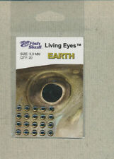 Fish Skull - Living Eyes - 5.0 mm - earth  quantity 20     FS-LE-E5