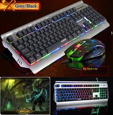 UK Ajazz Battle Axe Multimedia Ergonomic Backlight Gaming Keyboard & Mouse & Pad