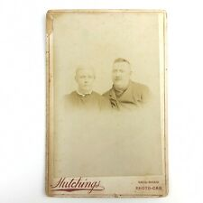 Vintage Antique Cabinet Card Photograph Hutchings Rail-Road Photo-Car Distressed