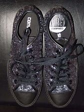 Converse All Star Low Black Mono Sequin exclusive trainers size 7 never worn