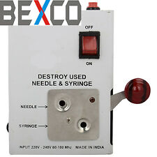 Top Quality,Needle and Syringe Destroyer Cutter Bio Plus Heavy Duty By BEXCO
