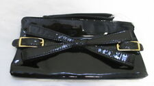 VALENTINO  BLACK PATENT LEATHER FRONT BOW CLUTCH PURSE STUNNING!