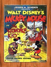 Tin Sign Walt Disney Mickey Mouse The Klondike Kid Cartoon Movie Art Poster
