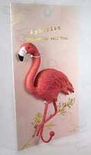 "Aphorism Pink Flamingo 8 1/2"" wall hanging hook resin metal towel hat"
