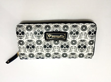 Loungefly Black and White Women's Skull Cool Punk Rock Stylish Long Wallet Purse