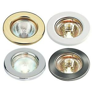 LED / Halogen GU10 Fixed Ceiling Light Spotlights Downlights Recessed Fitting UK