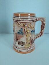 ENCO 1978 New York City Beer Stein Mug Twin Towers Statue of Liberty Empire
