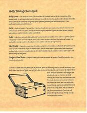 Book of Shadows Spell Pages ** Driving Spelll ** Wicca Witchcraft BOS