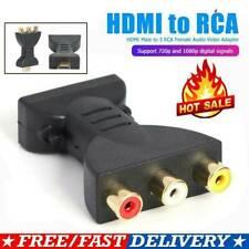 HDMI Male to 3 RCA Female Composite AV Video Audio Adapter Converter for PC TV.K