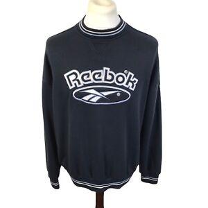 Vintage 90s Reebok Sweatshirt Size Large Mens Spellout