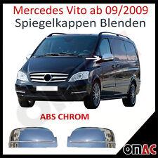 MERCEDES Vito W639 ab 2009 Chrom ABS Spiegelkappen Spiegel Blenden