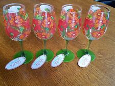 """New listing New Set Of 4 Lolita """"Best Of The Bunch� Acrylic 16 Oz Wine Glasses -Nwt"""