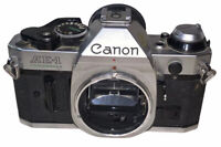 Vintage Canon AE-1 Program 35mm SLR Film Camera Body Chrome Untested