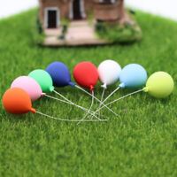 8Pcs 1:12 Doll House Miniature Balloons Model Toy Garden Decor Accessory Sanwood