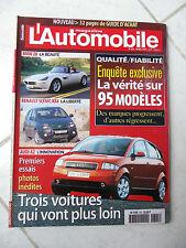 Magazine L'Automobile 645 Bmw Z8 Scenic RX4 Audi A2 406 Coupé V6 Mercedes S320
