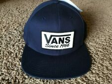 Vans - PATCHED Mens Snapback Hat (NEW)  Navy Blue Cap SINCE 1966 : Free Shipping