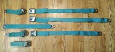 1960's-1970's GM Cadillac Eldorado REAR Seat Belt Set  *AQUA TEAL*  Great Shape