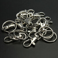 10-30X Swivel Clips Lobster Clasps Trigger Snap Hook Bag Key Ring Charms Finding