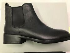 NEW COLE HAAN LANDSMAN BOOTIE PULL ON ANKLE BOOTS BLACK LEATHER WOMENS SIZE 9