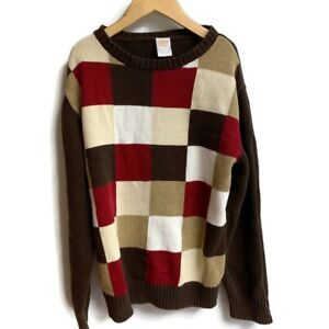 Gymboree | Red & Brown Pullover / Sweater Boys Size M (7-8) Checkerboard