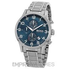 Hugo Boss Mens Aeroliner Stainless Steel Chronograph Watch 1513183