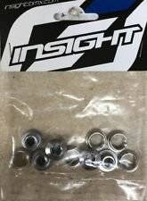 INSIGHT BMX (CHROME) CRO-MO CHAINRING BOLTS FITS CRUPI,GT,SHIMANO,SINZ
