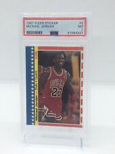 1987 Fleer Sticker #2 Michael Jordan Chicago Bulls HOF PSA 7 NM