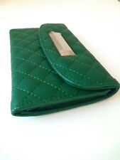 Catherine Malandrino Wallet Green Quilted Accent Envelope Women's Purse