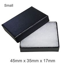 Black Cardboard Jewellery Gift Box Cotton Cushion Strong Jewelry Box- SMALL