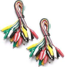 10pcs and 5 Colors Test Lead Set Alligator Crocodile Clips 2 Inches Jumper Wire