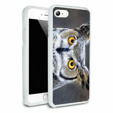 Great Horned Owl Painting Hybrid Rubber Bumper iPhone 7 and 7 Plus