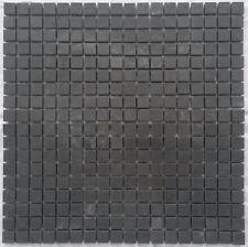 Mosaik Matte Schiefer Anthrazit 30x30 cm matt Naturstein Fliesen Schwarz M046