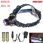 6000LM CREE XM-L T6 LED Headlamp Headlight Flashlight Head Light Lamp 18650 lot