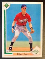1991 Upper Deck #55 CHIPPER JONES Top Prospect Rookie Atlanta Braves RC