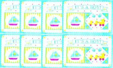 Srm Press Baby Boy Scrapbook Stickers Frames Sail boat Ducks Title 8 Sheets