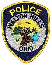 WALTON HILLS OHIO OH Police Patch DEER STAG LAKE BIRD SUN~
