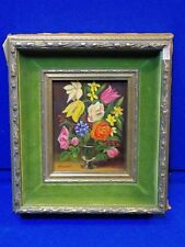 M Hummel Oil Painting Handpainted Art Flowers Holland Masterstroke Blue Onion