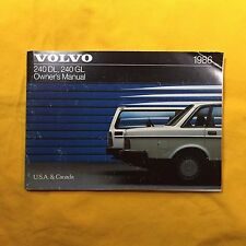 Volvo 1986 240 DL GL Owners Manuals Set With Folder USA & CANADA