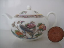 RARE WEDGWOOD KUTANI CRANE BONE CHINA MINIATURE TINY TEAPOT DOLL HOUSE TEA SET