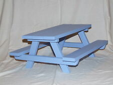 """18"""" Doll  Furniture Picnic Table Handmade for American Girl Sized Dolls -Painted"""