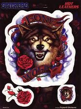Aufkleber Set Modell Lone Wolf Größe 13,8 cm auf 12,8 cm